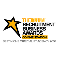 Clear Edge commended in best niche / specialist agency category at The Drum's Recruitment Business Awards